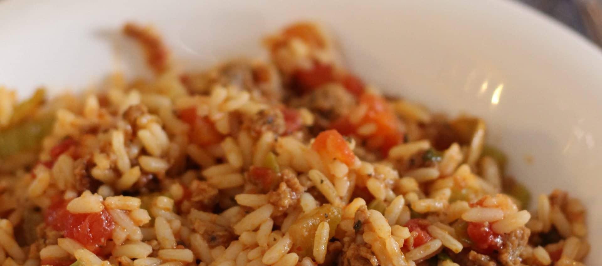 Casserole de riz à la saucisse italienne